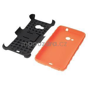 Vysoce odolný obal pre Microsoft Lumia 535 - oranžový - 7