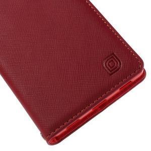 Style peňaženkové puzdro na Huawei Ascend P8 - červené - 7