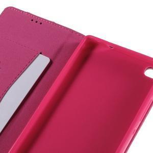 Style peňaženkové puzdro na Huawei Ascend P8 - rosa - 7