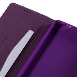 Style peňaženkové puzdro na Huawei Ascend P8 - fialové - 7
