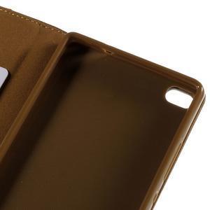 Style peňaženkové puzdro na Huawei Ascend P8 - hnedé - 7