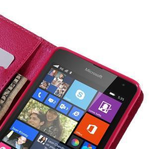 Peňaženkové puzdro pre Microsoft Lumia 535 - vlčie maky - 7