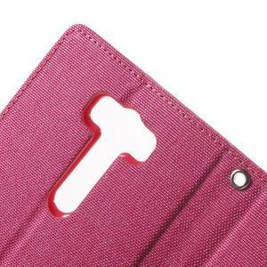 Canvas textilní/PU kožené puzdro na Asus Zenfone 2 Laser - rose - 7