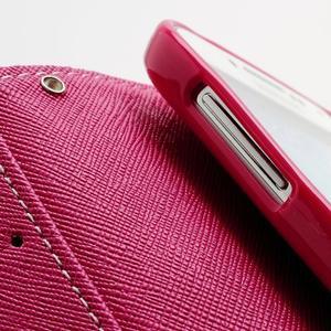 Fancy peňaženkové puzdro pre Samsung Galaxy S4 - žlté - 7