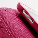 Fancy peňaženkové puzdro pre Samsung Galaxy S4 - žlté - 7/7