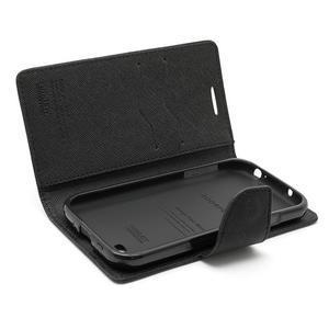 Fancy peňaženkové puzdro pre Samsung Galaxy S4 -  čierné - 7