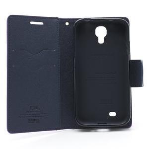 Fancy peňaženkové puzdro pre Samsung Galaxy S4 -  fialové - 7