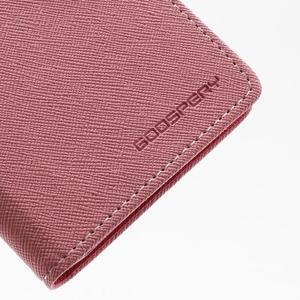 Fancy peňaženkové puzdro na Samsung Galaxy S4 -  růžové - 7