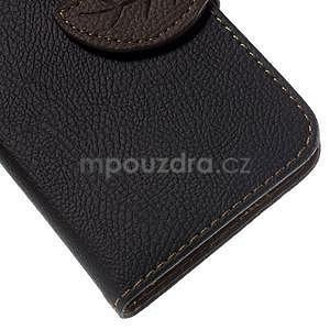 Černé/hnedé peňaženkové puzdro pre Samsung Galaxy Core Prime - 7
