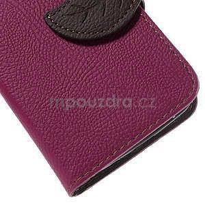 Rose/hnedé peňaženkové puzdro pre Samsung Galaxy Core Prime - 7