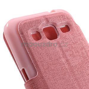 Zapínací peněženkové pouzdro na Samsung Galaxy Core Prime - růžové - 7