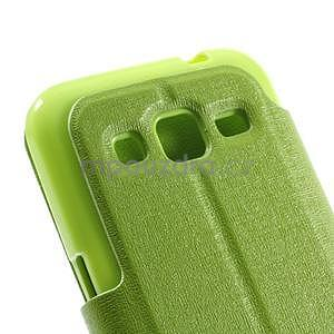 Zapínací peňaženkové puzdro pre Samsung Galaxy Core Prime - zelené - 7