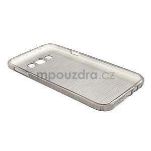 Broušený gélový obal pre Samsung Galaxy E7 - šedý - 7