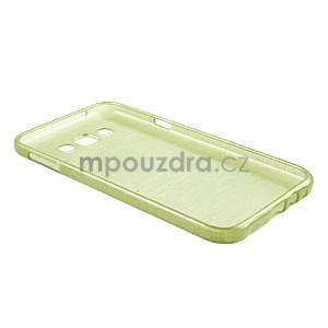 Broušený gélový obal pre Samsung Galaxy E7 - zelený - 7