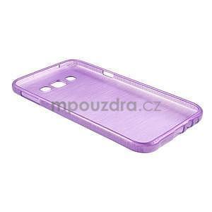 Brúsený gélový obal pre Samsung Galaxy E7 - fialový - 7