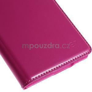 Kožené peňaženkové puzdro s okienkom - rose - 7