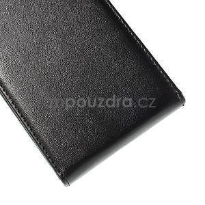 Čierné flipové kožené puzdro pre Samsung Galaxy E7 - 7
