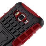 Vysoce odolný kryt se stojánkem na Samsung Galaxy Grand Prime - červený - 7/7