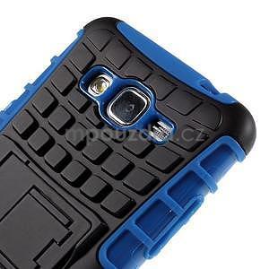 Vysoce odolný kryt so stojanom pre Samsung Galaxy Grand Prime - modrý - 7