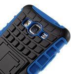 Vysoce odolný kryt se stojánkem na Samsung Galaxy Grand Prime - modrý - 7/7