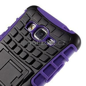 Vysoce odolný kryt so stojanom pre Samsung Galaxy Grand Prime - fialový - 7