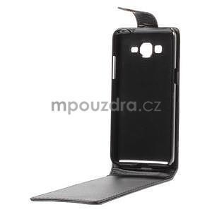 Čierné flipové puzdro pre Samsung Galaxy Grand Prime - 7