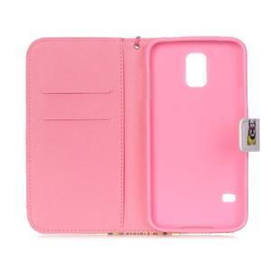 Knížkové PU kožené puzdro pre Samsung Galaxy S5 - buldog - 7