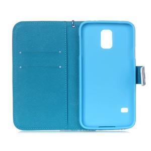 Knížkové PU kožené puzdro pre Samsung Galaxy S5 - snežný muž - 7