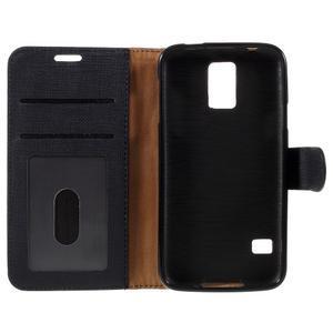 Clothy Pu kožené pouzdro na Samsung Galaxy S5 - černé - 7