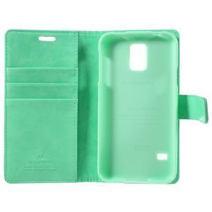 Bluemoon PU kožené puzdro pre Samsung Galaxy S5 - azúrové - 7