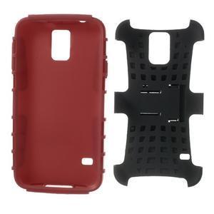 Outdoor odolný kryt na mobil Samsung Galaxy S5 - červený - 7