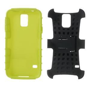 Outdoor odolný kryt pre mobil Samsung Galaxy S5 - zelený - 7
