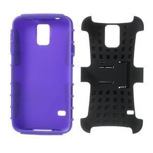 Outdoor odolný kryt pre mobil Samsung Galaxy S5 - fialový - 7