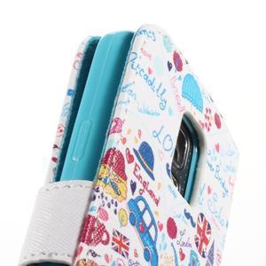 Emotive PU kožené puzdro pre Samsung Galaxy S5 mini - Londýn - 7