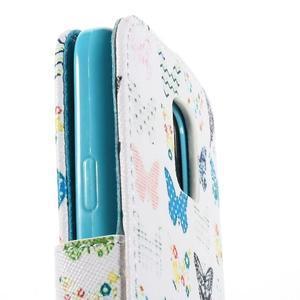 Emotive PU kožené puzdro pre Samsung Galaxy S5 mini - motýle - 7