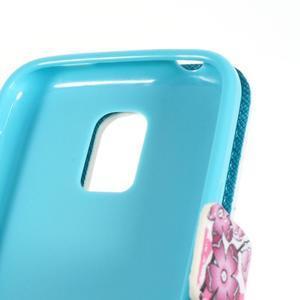 Emotive PU kožené pouzdro na Samsung Galaxy S5 mini - kvetoucí větvička - 7