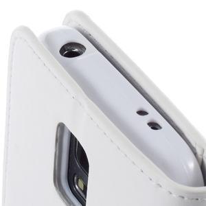 Sonata PU kožené puzdro pre Samsung Galaxy S5 mini - biele - 7