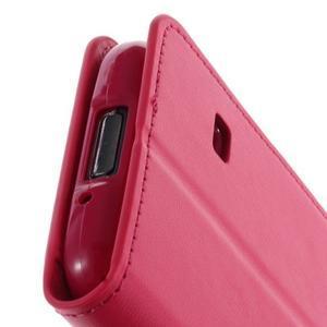 Sonata PU kožené pouzdro na Samsung Galaxy S5 mini - rose - 7