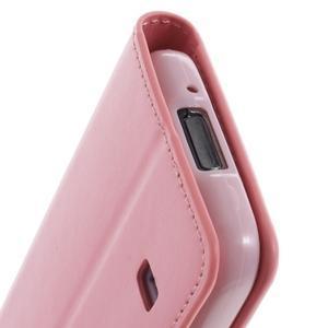 Sonata PU kožené puzdro pre Samsung Galaxy S5 mini - ružové - 7