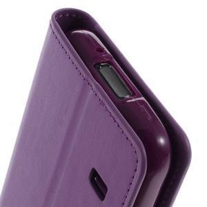 Sonata PU kožené pouzdro na Samsung Galaxy S5 mini - fialové - 7
