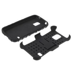 Outdoor odolný obal pre mobil Samsung Galaxy S5 mini - čierný - 7