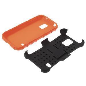 Outdoor odolný obal pre mobil Samsung Galaxy S5 mini - oranžový - 7
