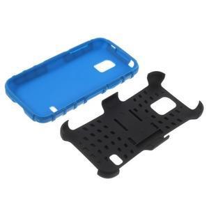 Outdoor odolný obal pre mobil Samsung Galaxy S5 mini - modrý - 7