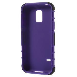 Outdoor odolný obal pre mobil Samsung Galaxy S5 mini - fialový - 7