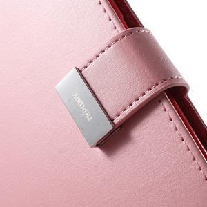 Richdiary PU kožené puzdro pre mobil Samsung Galaxy S6 Edge - ružové - 7