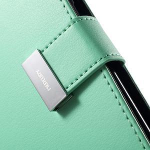 Richdiary PU kožené puzdro pre mobil Samsung Galaxy S6 Edge - azúrové - 7