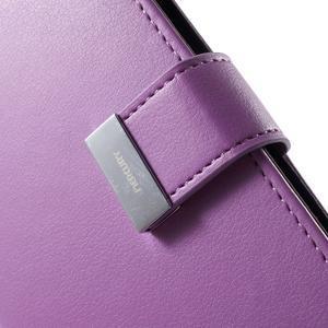 Richdiary PU kožené puzdro pre mobil Samsung Galaxy S6 Edge - fialové - 7