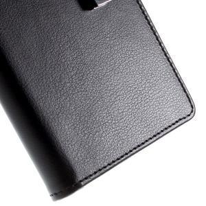 Richdiary PU kožené puzdro pre mobil Samsung Galaxy S6 Edge - čierne - 7