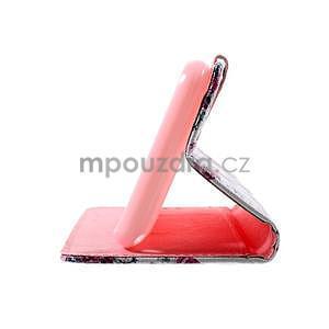 Peňaženkové puzdro na Sony Xperia E4g - kvetinová koláž - 7