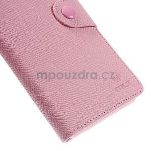 Ružové Peňaženkové puzdro pre Sony Xperia Z3 - 7